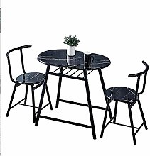 Huisen Furniture Black Dining Table and Chairs Set