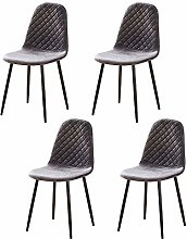 Huisen Furniture Grey Kitchen Dining Room Chairs