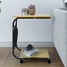 Huisen Furniture Mobile Sofa Side End Table with