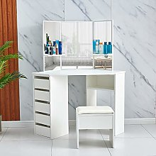 Huisen Furniture Modern Makeup Vanity Table Tri
