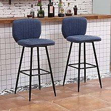 Huisen Furniture Set of 2 Bar Chairs Breakfast