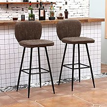 Huisen Furniture Set of 2 Bar Chairs Stool with