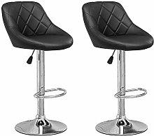 Huisen Furniture Set of 2 Black Height Adjustable