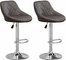 Huisen Furniture Set of 2 Dark Grey Kitchen Bar