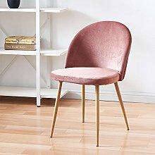 Huisen Furniture Set of 2 Pink Velvet Dining Room