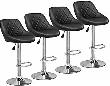 Huisen Furniture Set of 4 Black Height Adjustable