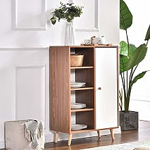 Huisen Furniture Slimline Wood Corner Shoe Storage