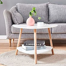 Huisen Furniture Small Oval Side Sofa Table White