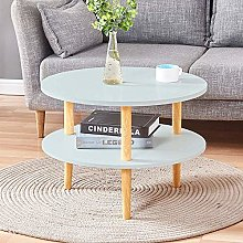 Huisen Furniture Small Round Side Sofa Table White