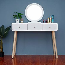 Huisen Furniture White Dressing Table with Mirror