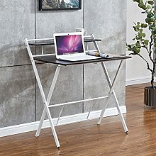 Huisen Small Folding Computer Desk Black, PC