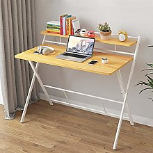 Huisen Small Folding Computer Desk Walnut, PC
