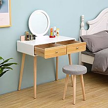 Huisenuk Dressing Table with Stool Set, Modern