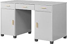 """Huisenuk Grey Computer Desk Wooden 51"""" Exclusive"""