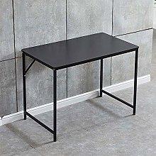 Huisenuk I Shape Office Computer Desk Table Black