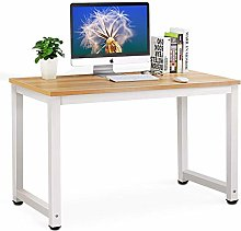 Huisenuk I Shaped Modern Office Computer Table
