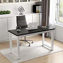 Huisenuk Modern Office Black Computer Desk Table