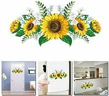 HUJL Wall Sticker Sunflower Flower Wall Stickers