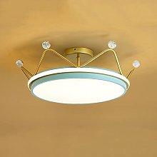 HUJUNM Crown Bedroom Light LED Flush Mount Ceiling