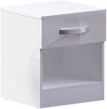 Hulio 1 Drawer Bedside Cabinet, White