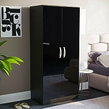 Hulio 2 Door Wardrobe, Black