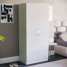 Hulio 2 Door Wardrobe, White