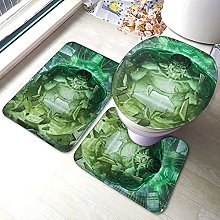 Hulk Bathroom Rugs Set Non-Slip Water Absorption