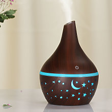 Humidifier with night light function, Dark Brown