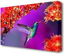 Hummingbird Flowers Canvas Print Wall Art East