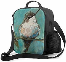 Hummingbird Painting Upgrade Lunch Tote Box,