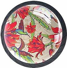 Hummingbird Red Crystal Drawer Handles Furniture