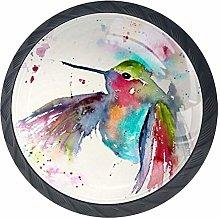 Hummingbird Watercolor Cabinet Dresser Drawer