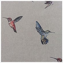 Hummingbirds Cream Linen/Cotton 140cm Wide