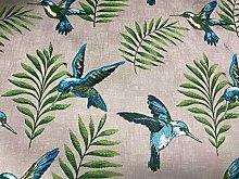 Hummingbirds Super Soft Velvet Olive/Teal