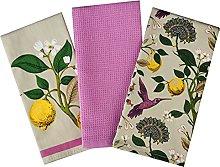 Hummingbirds Tea Towels 100% Cotton Decorative