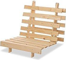 Humza Amani Wood Luxury 1 Seater Metro Futon Sofa