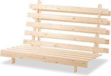 Humza Amani Wood Luxury 2 Seater Metro Futon Sofa