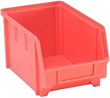 Hunersdorff 653100 Storage bin PS, Size 3 red, 3