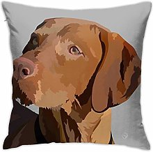 Hungarian Viszla Ready To Play Pillow Cover