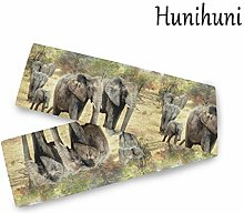 Hunihuni African Elephant Table Runner Table