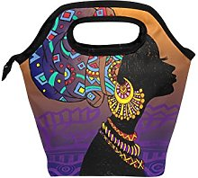 hunihuni African Woman Insulated Thermal Lunch