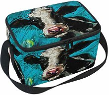 Hunihuni Animal Cow Portable Insulated Lunch Bag