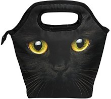 hunihuni Black Cat Insulated Thermal Lunch Cooler