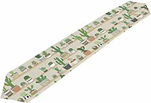 Hunihuni Cactus Flower Table Runner Table Cloth