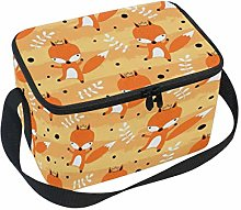 Hunihuni Cute Animal Fox Portable Insulated Lunch