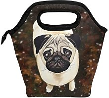 hunihuni Cute Dog Pug Insulated Thermal Lunch