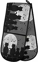 Hunihuni Double Oven Mitts Animal Cat Music Note