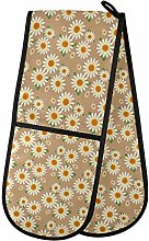 Hunihuni Double Oven Mitts Daisy Flower Heat