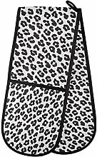 Hunihuni Double Oven Mitts Leopard Print Pattern