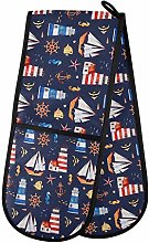 Hunihuni Double Oven Mitts Nautical Anchor